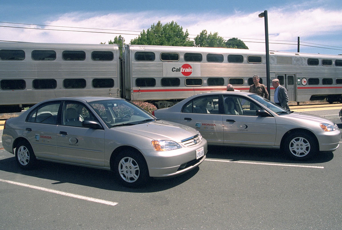 car sharing lot at amtrak