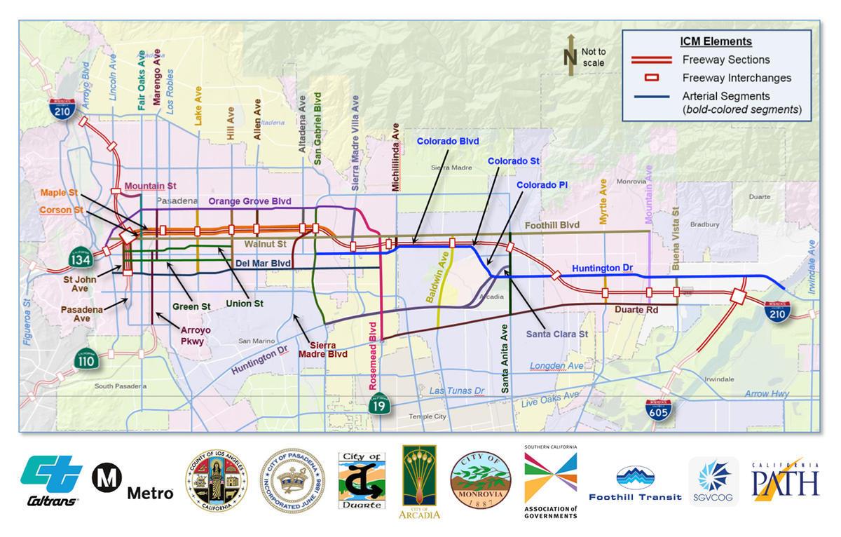 Connected Corridors Pilot Map