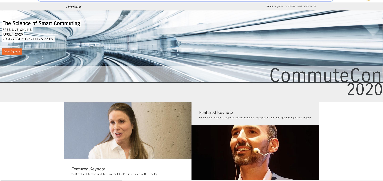 Commute Con homepage