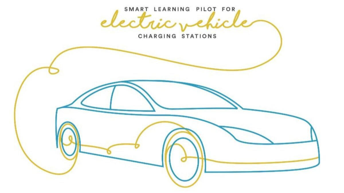 EV study graphic with charging car