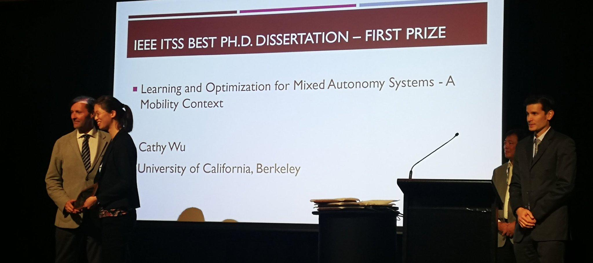 Wu accepts IEEE best dissertation award