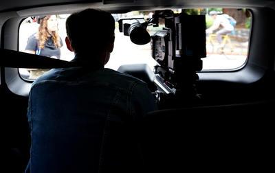 ARTE Documentary team filming bike