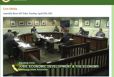 Bayen Testifies at Assembly Committee on Jobs, Economic Development and the Economy