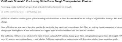 Car-Loving State Faces Tough Transportation Choices