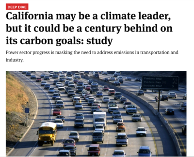 California may be a climate leader, but it could be a century behind on its climate goals