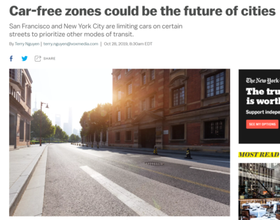 Car-free zones could be the future of cities