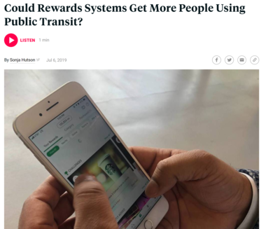 Could Reward Systems get More People Using Public Transit?