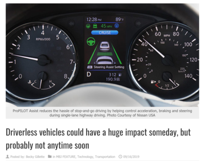 Driverless vehicles could have a huge impact someday, but probably not anytime soon