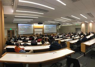 Hyperloop talk at Haas full room