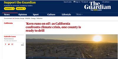 Guardian news page