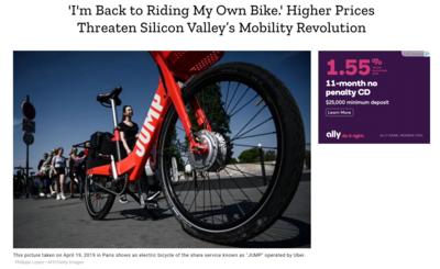 High Prices Threaten Silicon Valley's Mobility Revolution