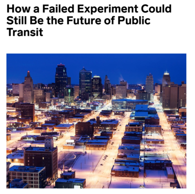 How a failed experiment could still be the future of public transit