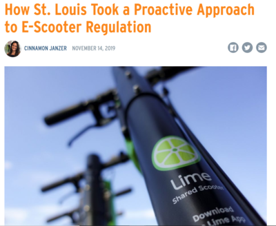 How St Louis took a proactive approach to E-Scooter Regulation