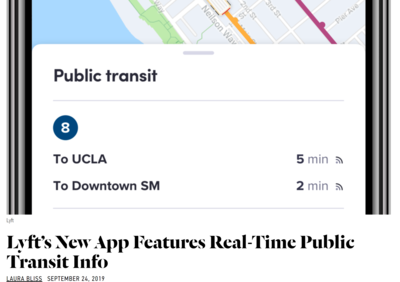 Lyft's New App Features Real-Time Public Transit Info