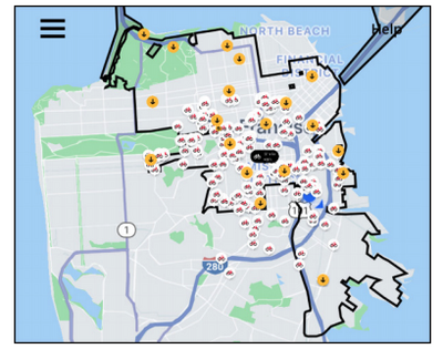 Scooter map of SF
