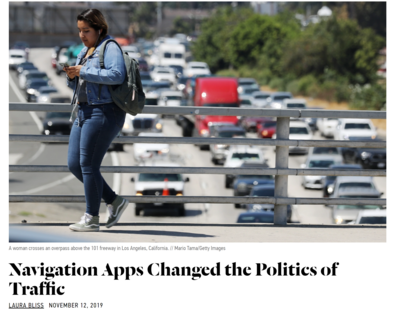 Navigation apps changed the politics of Traffic