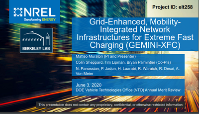 Grid-Enhanced, Mobility- Integrated Network Infrastructures for Extreme Fast Charging (GEMINI-XFC)