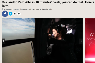 Oakland to Palo Alto in 10 minutes?