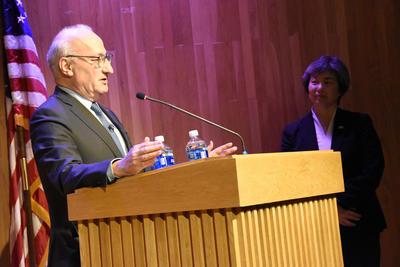 Philippe Etienne at podium