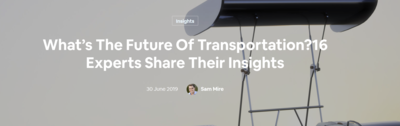 What's the Future of Transportation?