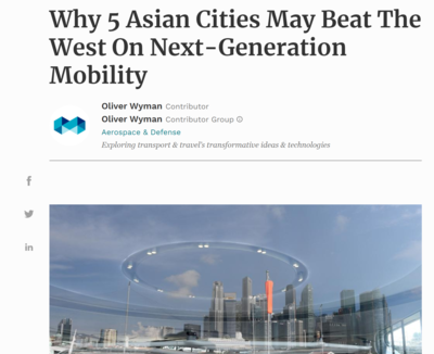 Why 5 Asian Cities may beat the west on next generation mobility