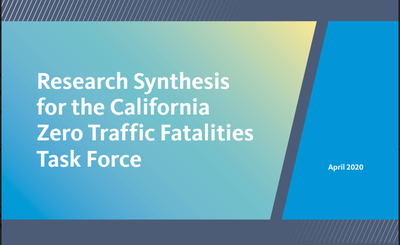 Zero traffic fatalities report cover